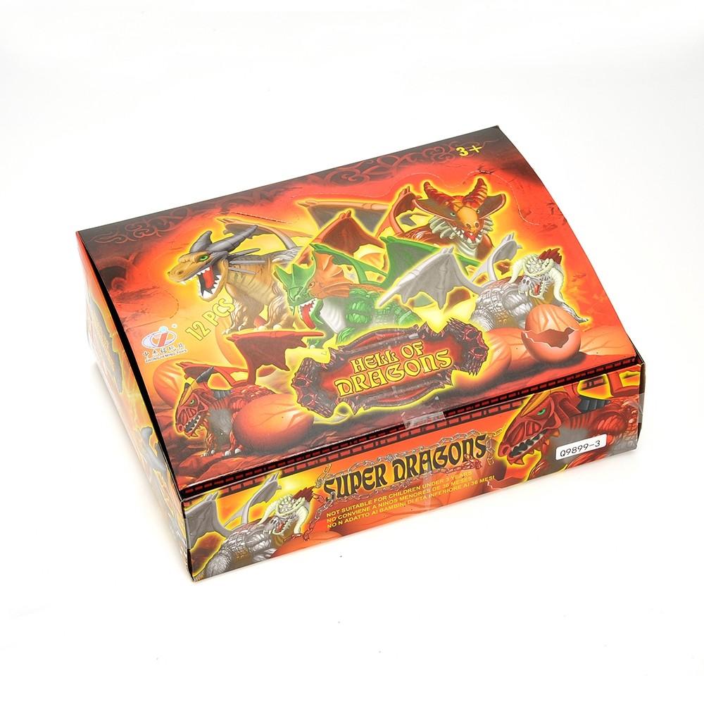 Dragon Figurine Puzzles In Hatching Jurrasic Eggs (12 Eggs Per Pack)