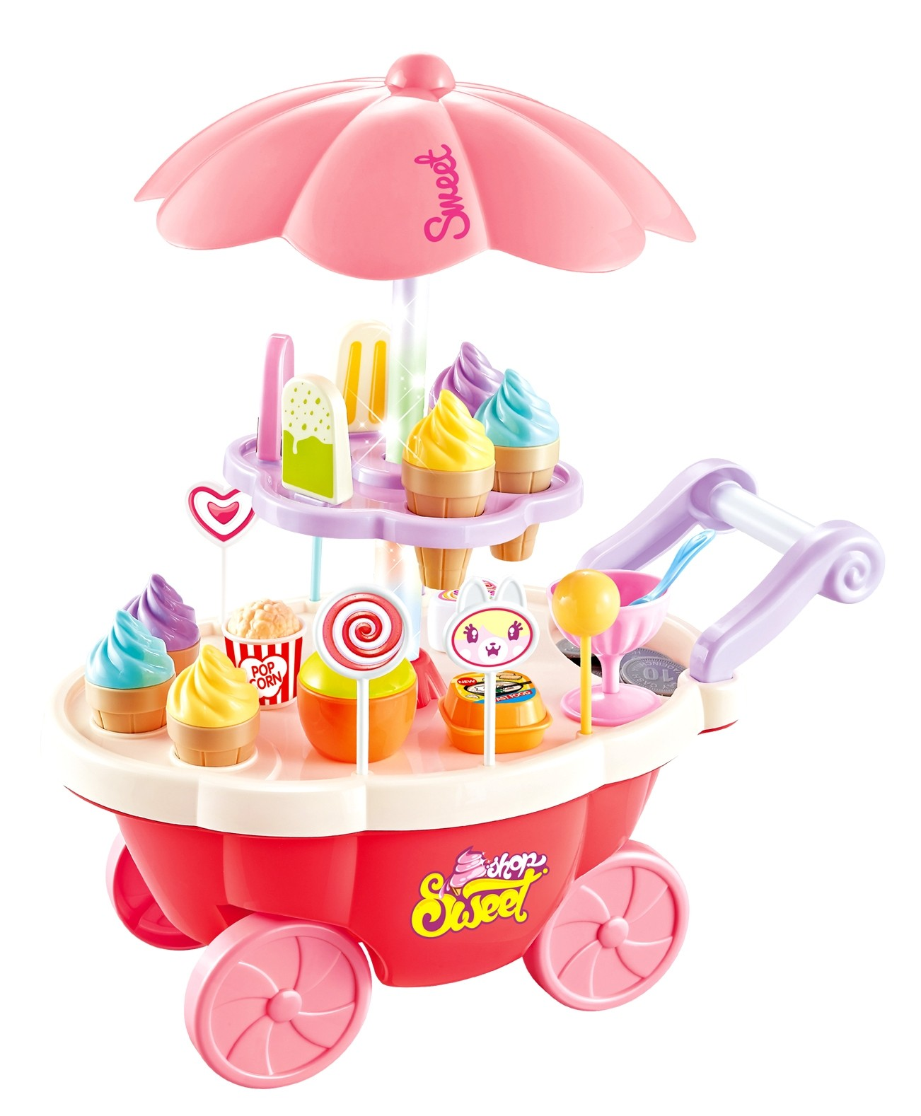 Mini Candy And Ice Cream Cart Shop (Pink)