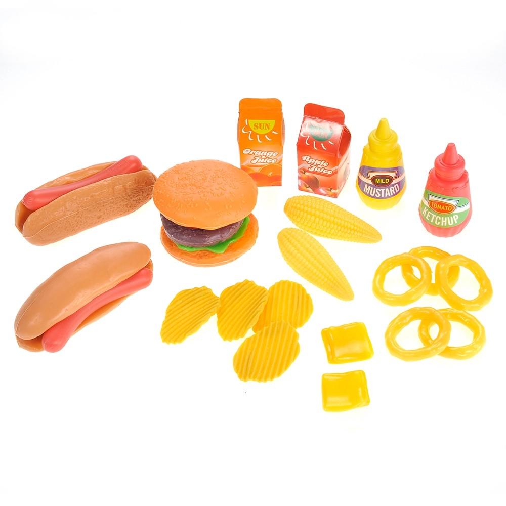 Burger & Hot Dog Fast Food Cooking Play Set