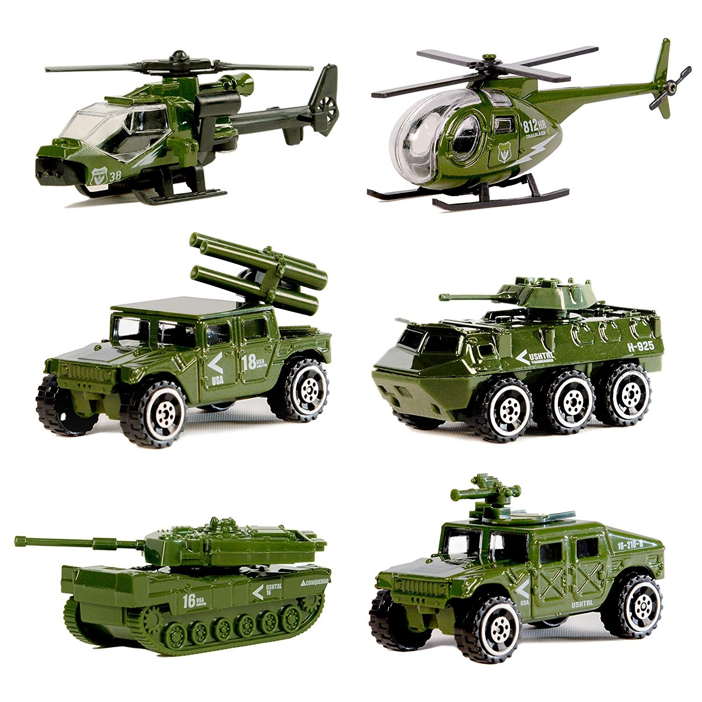 Diecast Military Vehicle Playset (6 Vehicles)