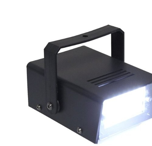 "3.5"" Mini Disco 24 LED White Flashing Strobe Light"