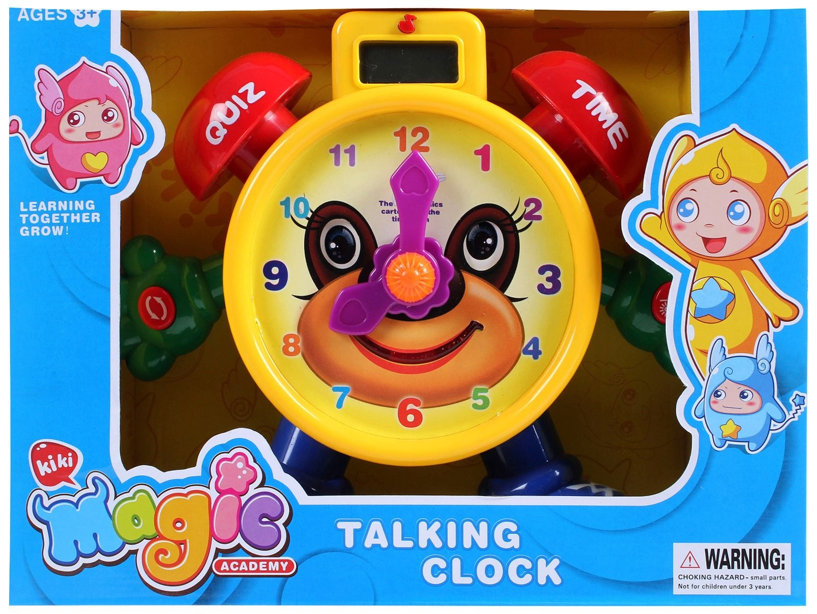 "Tell The Time"" Electronic Learning Teach Time Clock Educational Toy for Kids LTC75E"
