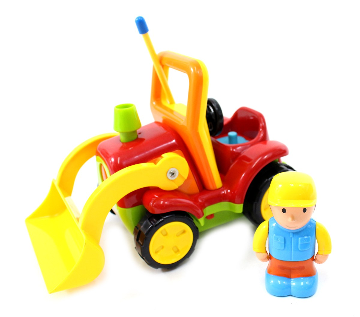 "4"" Cartoon R/C Construction Truck Toy for Toddlers (Red)"