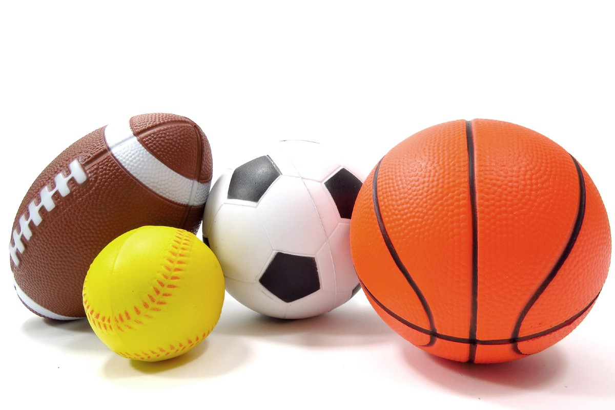 Set Of 4 Sports Balls For Kids (Soccer Ball, Basketball, Football, Baseball)