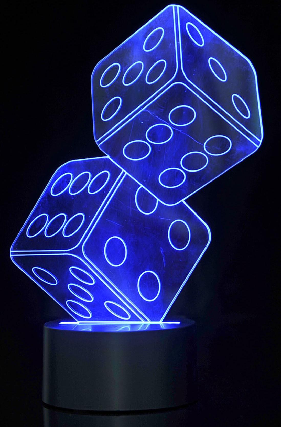 3D Dice Lighting Laser Cut Precision LED Lights