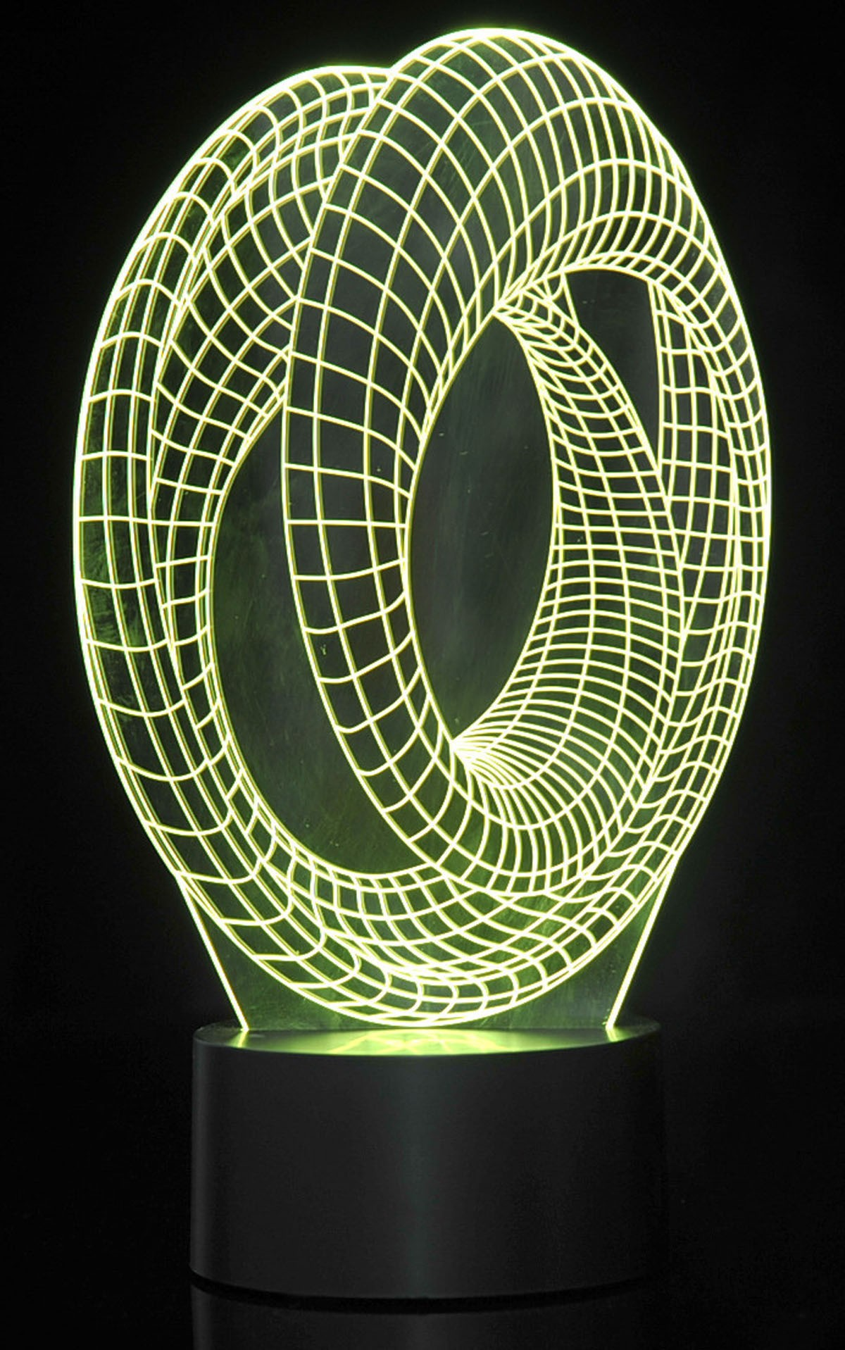 3D Corkscrew Lighting Laser Cut Precision LED Lights