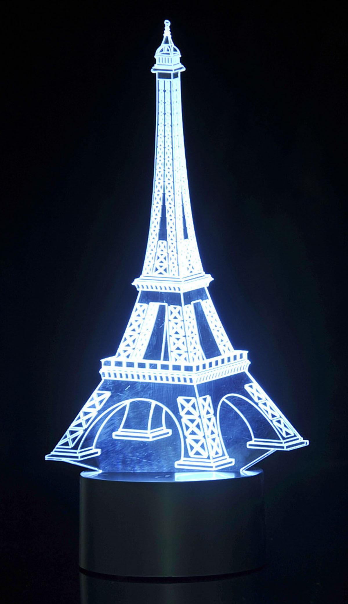 3D Eifel Tower Laser Cut Precision LED Lights
