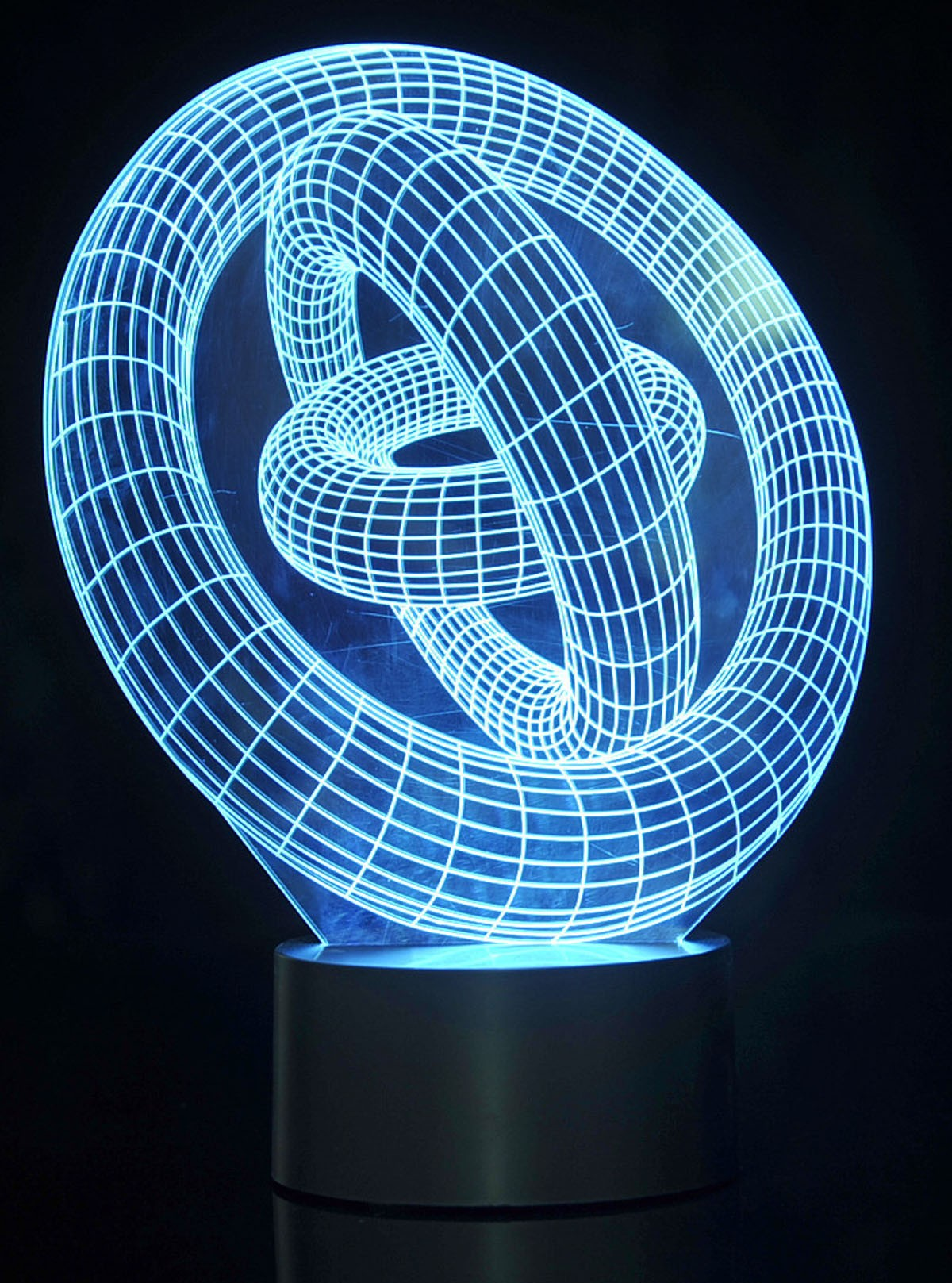 3D Ring-In-Ring Laser Cut Precision LED Lights