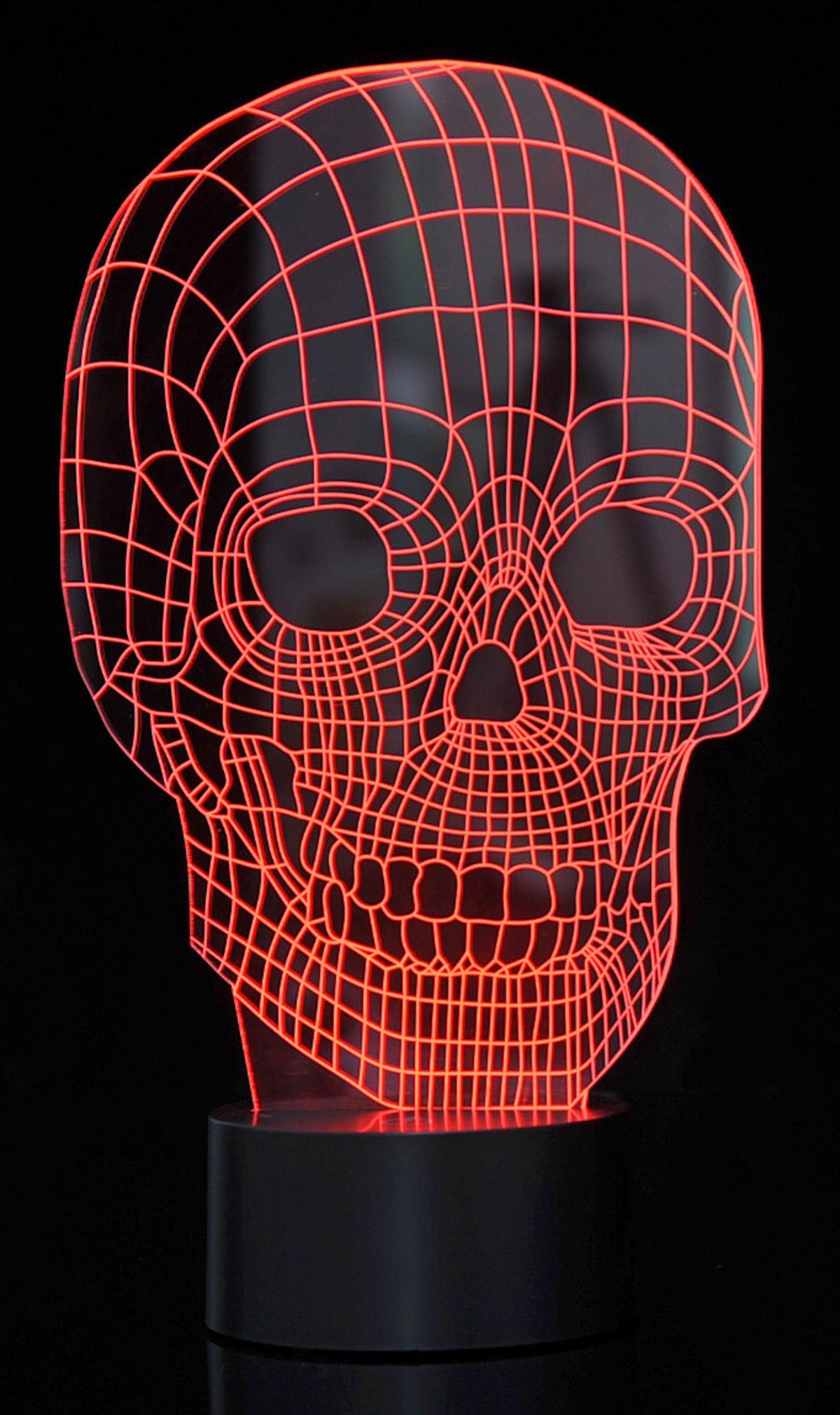3D Skull Laser Cut Precision LED Lights