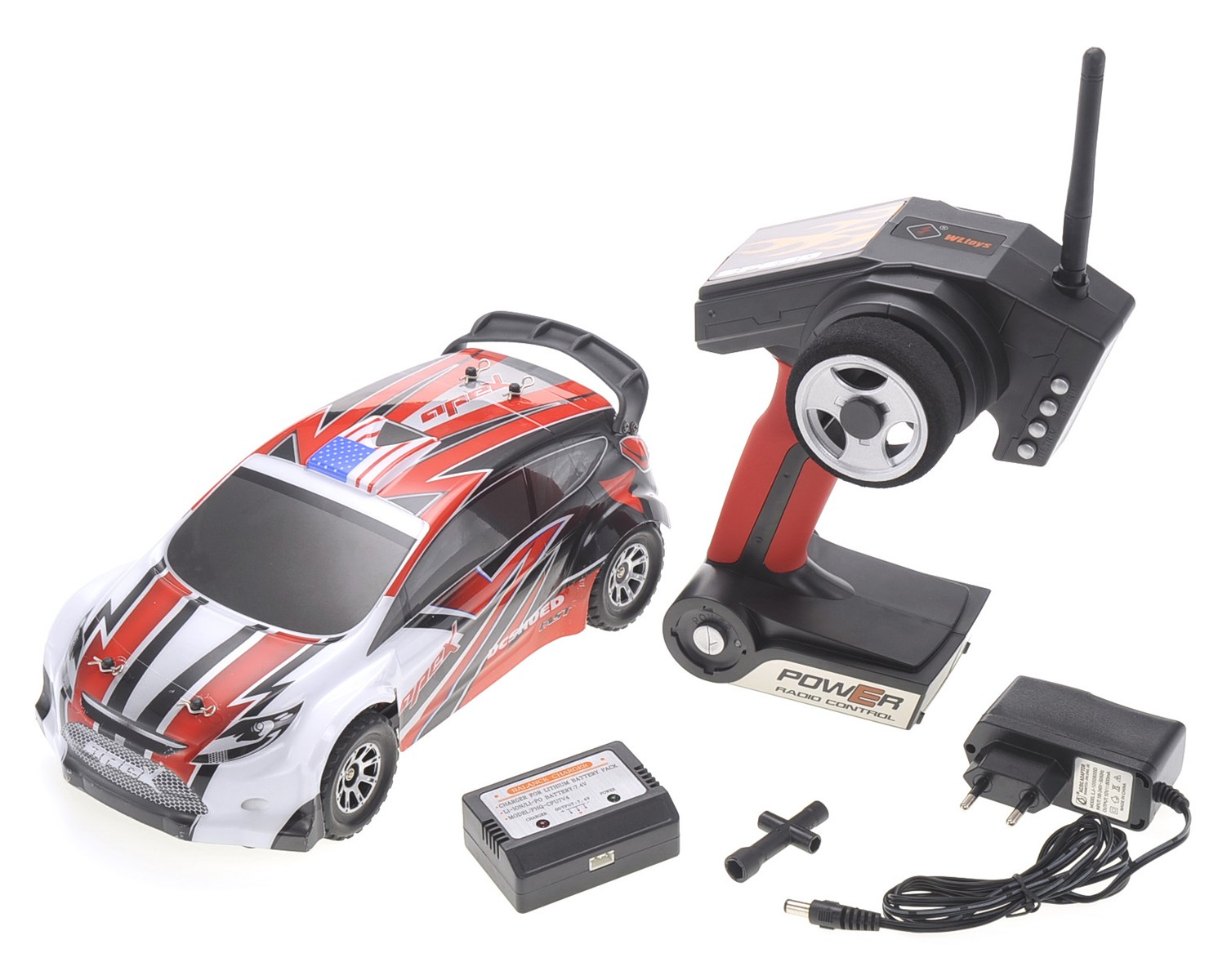 1:18 RC 2.4Gh 4WD Remote Control Rally Car (Red)