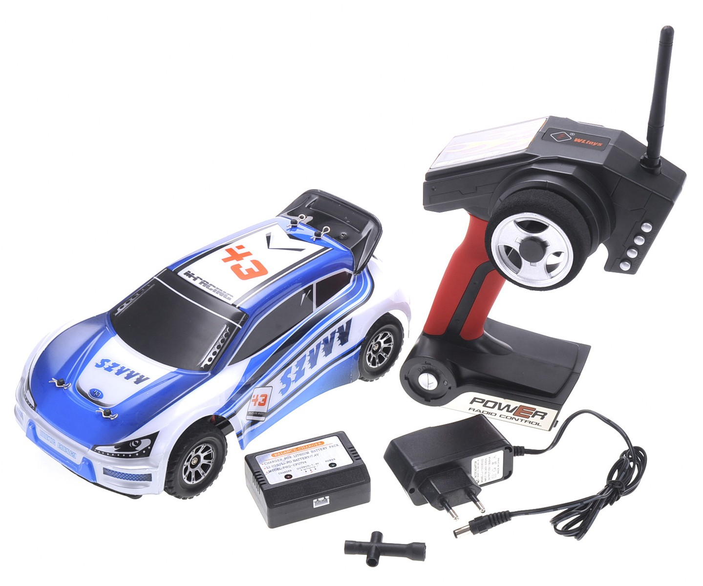 1:18 RC 2.4Gh 4WD Remote Control Rally Car (Blue)