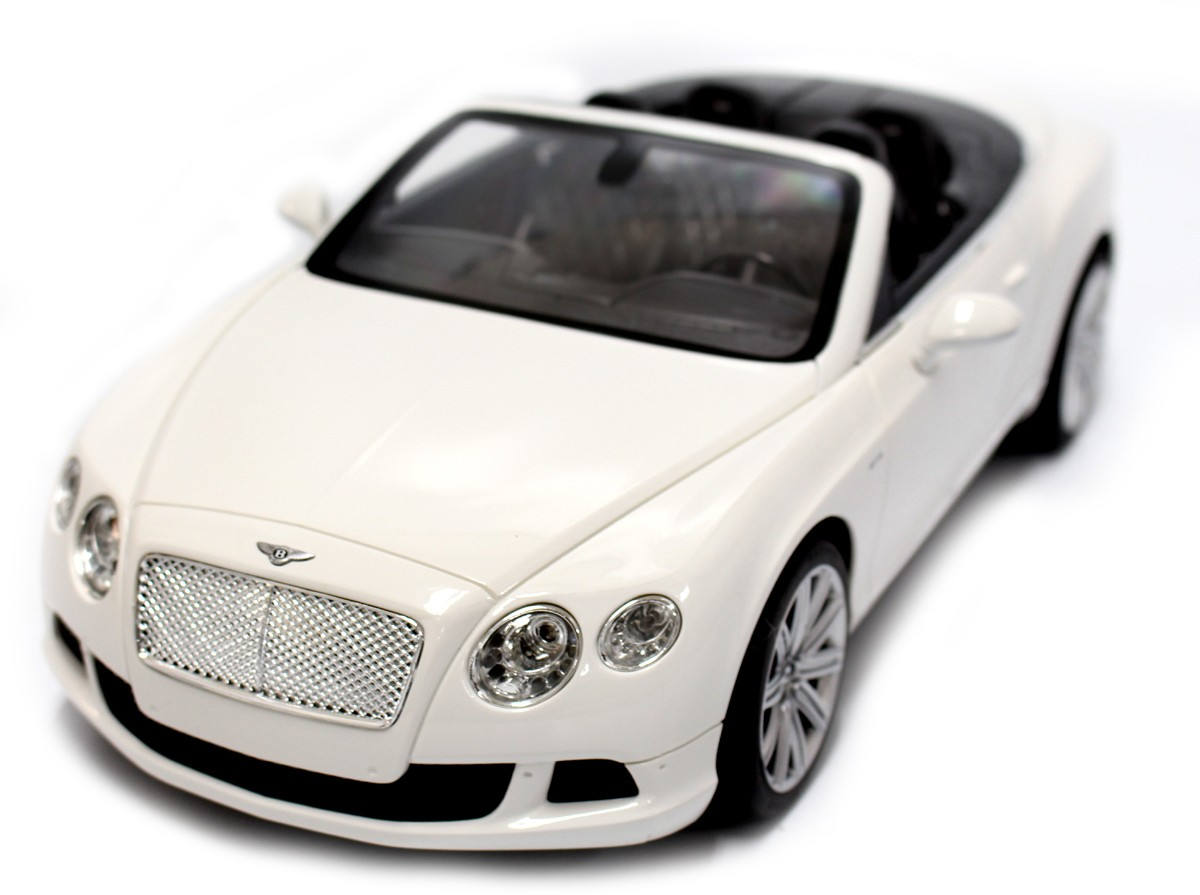 1:12 RC Bentley Continental GT Convertible (White)