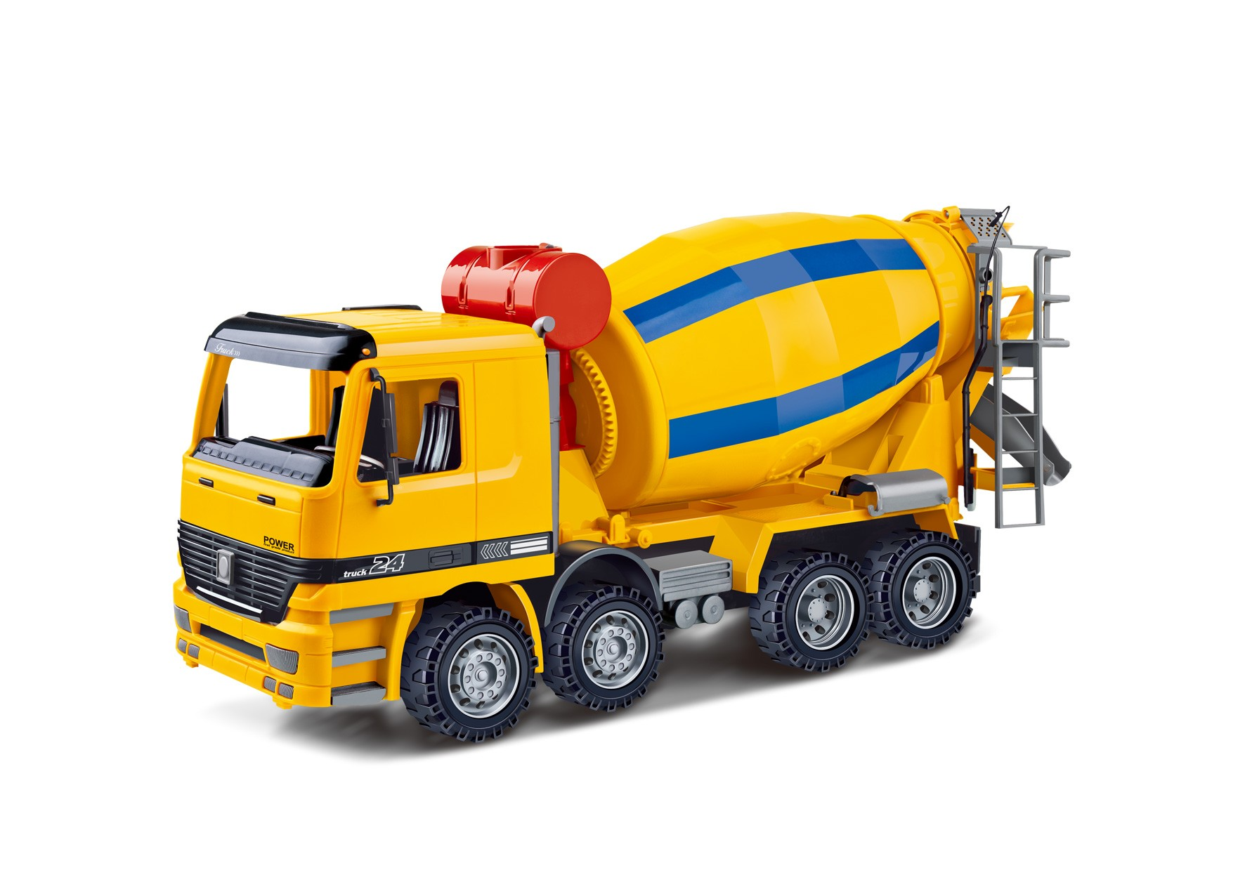 """14"""" Cement Mixer Construction Vehicle Powered by Friction For Kids"""