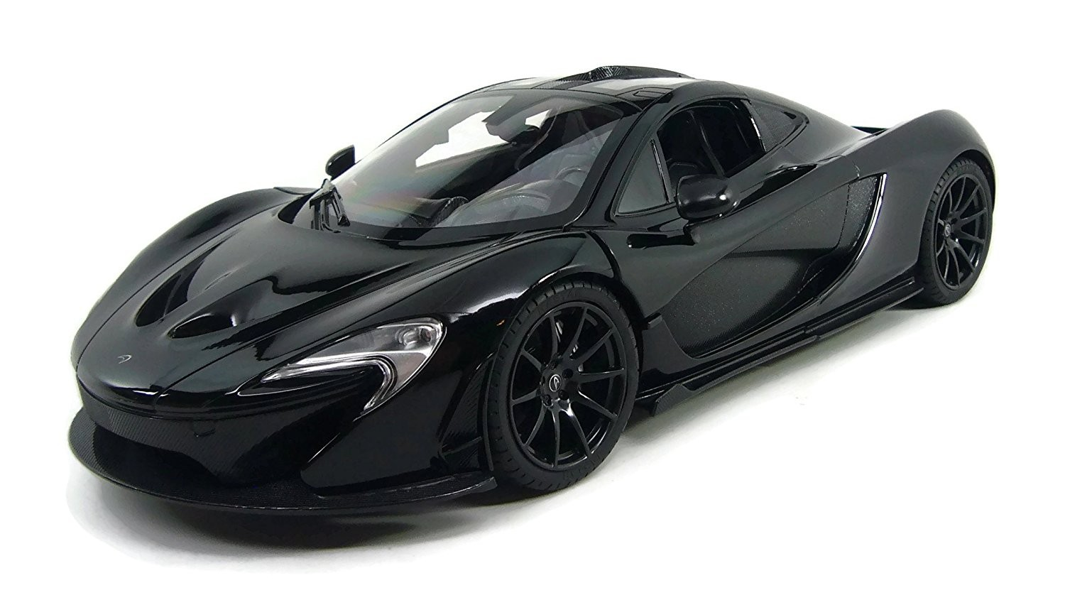 1:14 RC McLaren P1 Sports Car With Lights and Open Doors (Black)