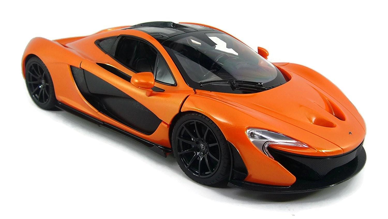 1:14 RC McLaren P1 Sport Car With Lights and Open Doors (Orange)