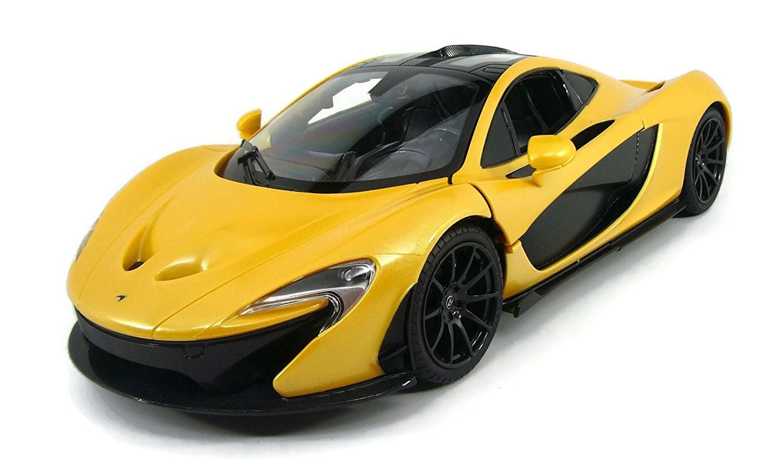 1:14 RC McLaren P1 Sport Car With Lights and Open Doors (Yellow)