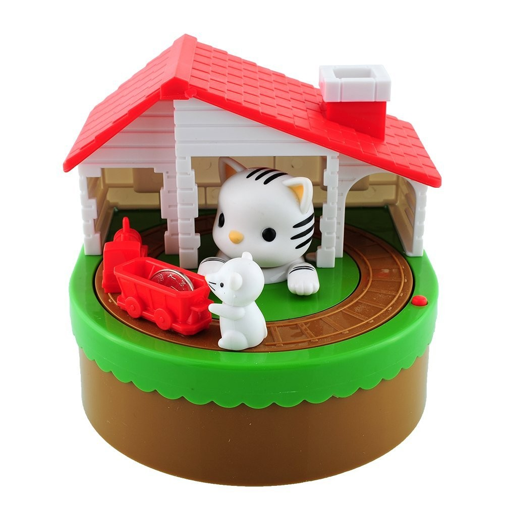 Cat and Mouse Coin Bank