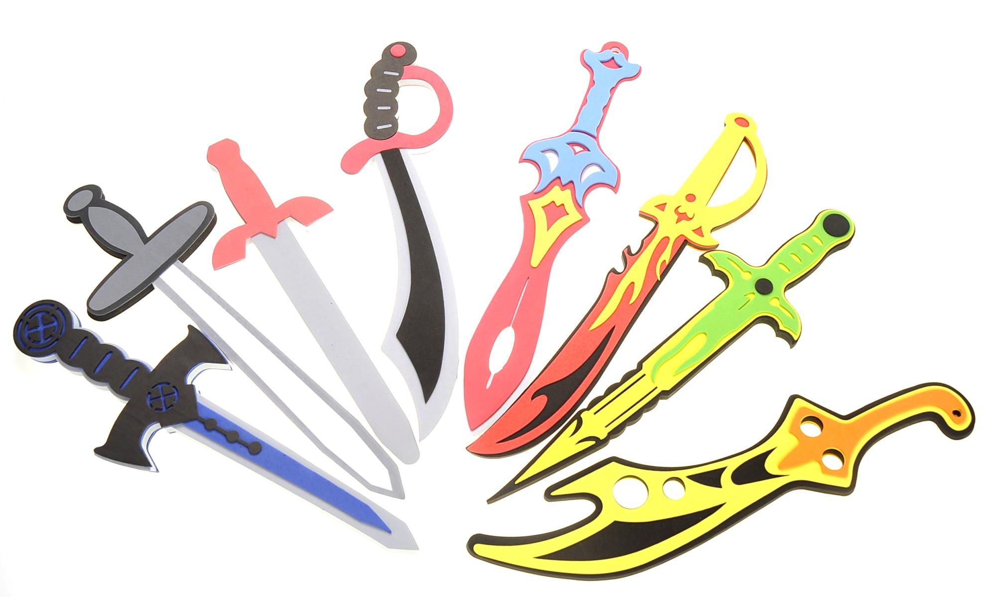 8 Pack Foam Swords Play Set