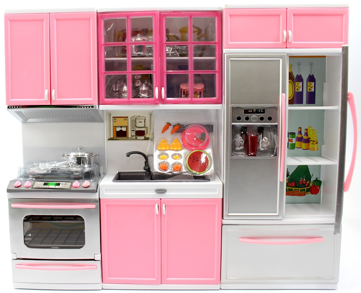 Battery Operated Modern Kitchen Playset w/ Oven and Fridge