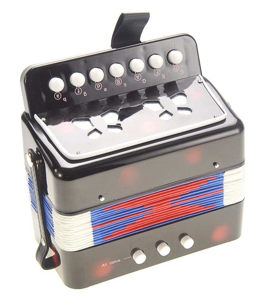 Children's Musical Instrument Accordion Black