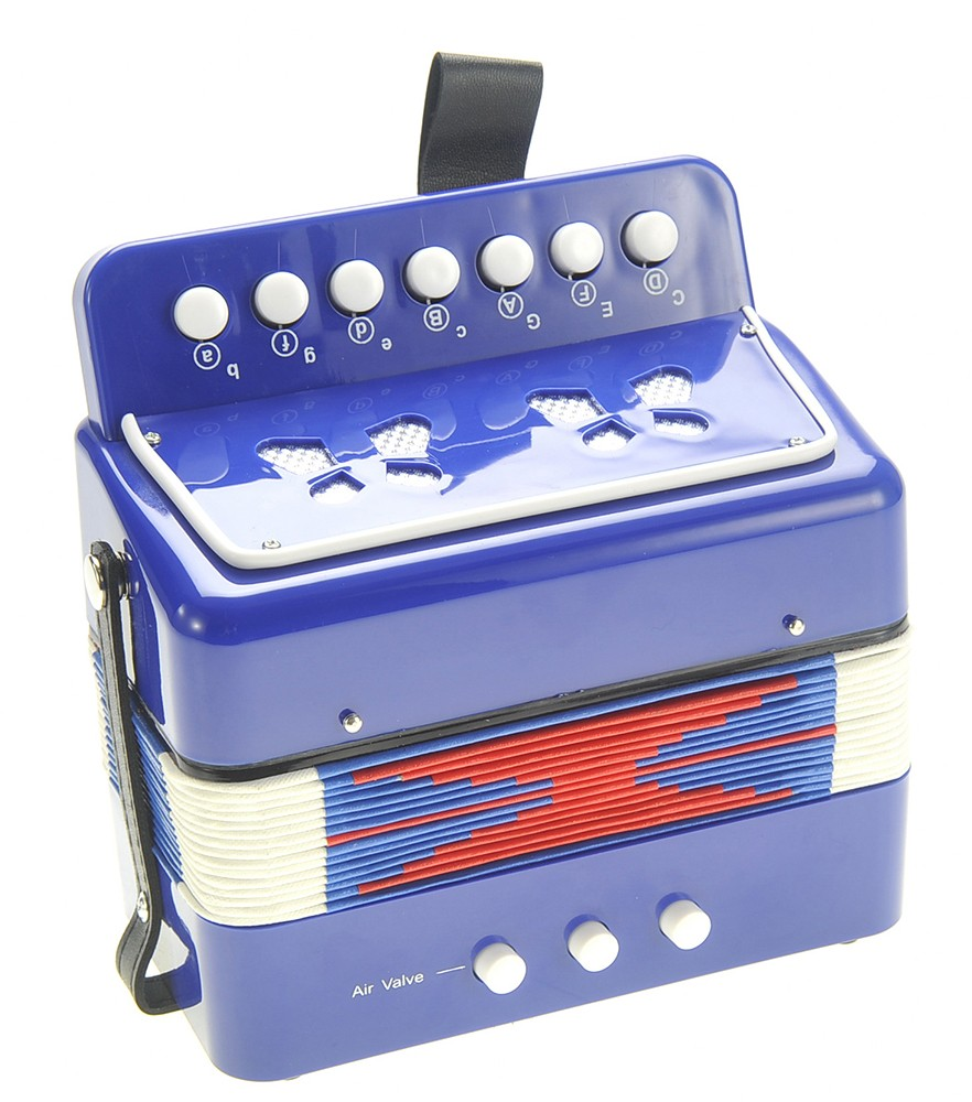 Children's Musical Instrument Accordion Blue