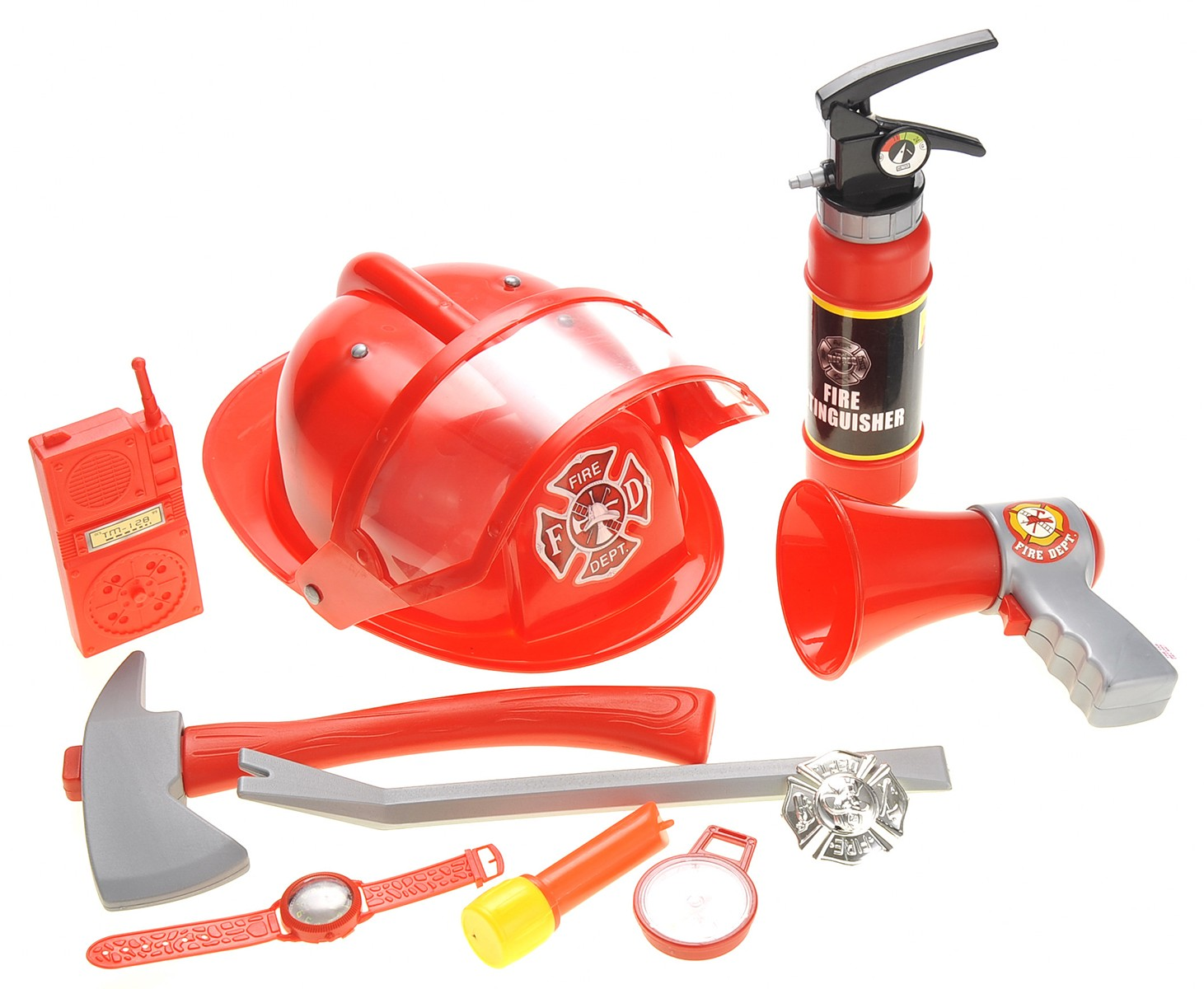 Fireman Gear Play Set for Kids With Helmet And Accessories