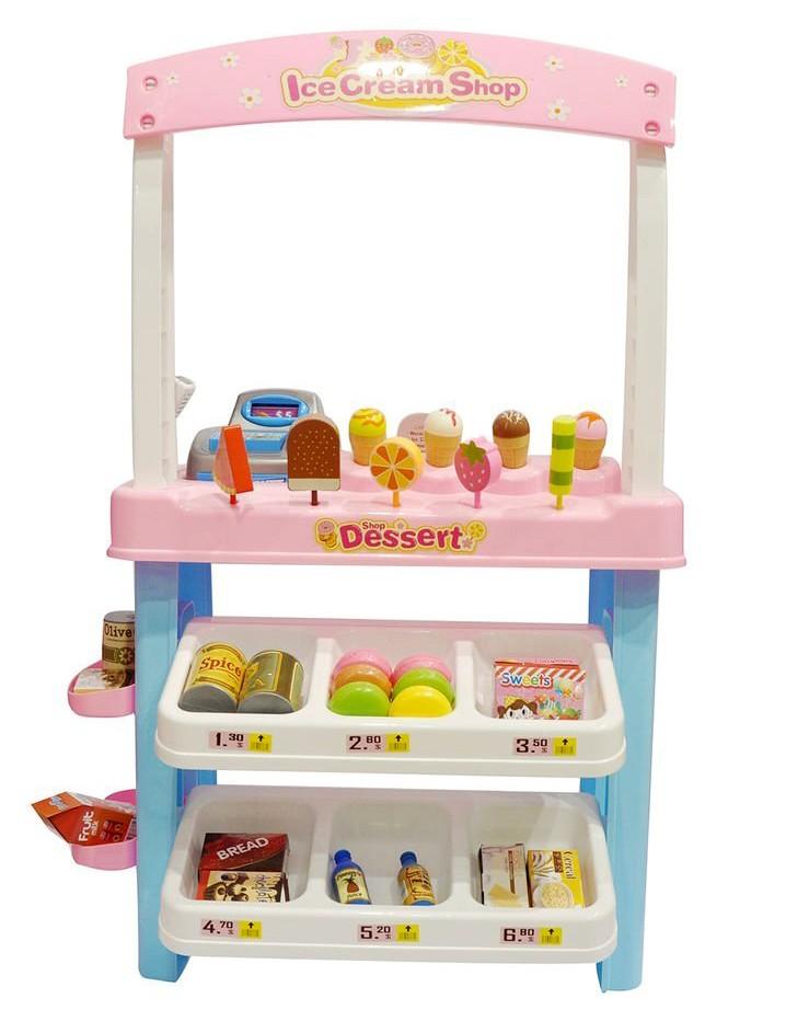 Ice Cream Shop 47 piece luxury grocery Supermarket Pretend Playset Pink