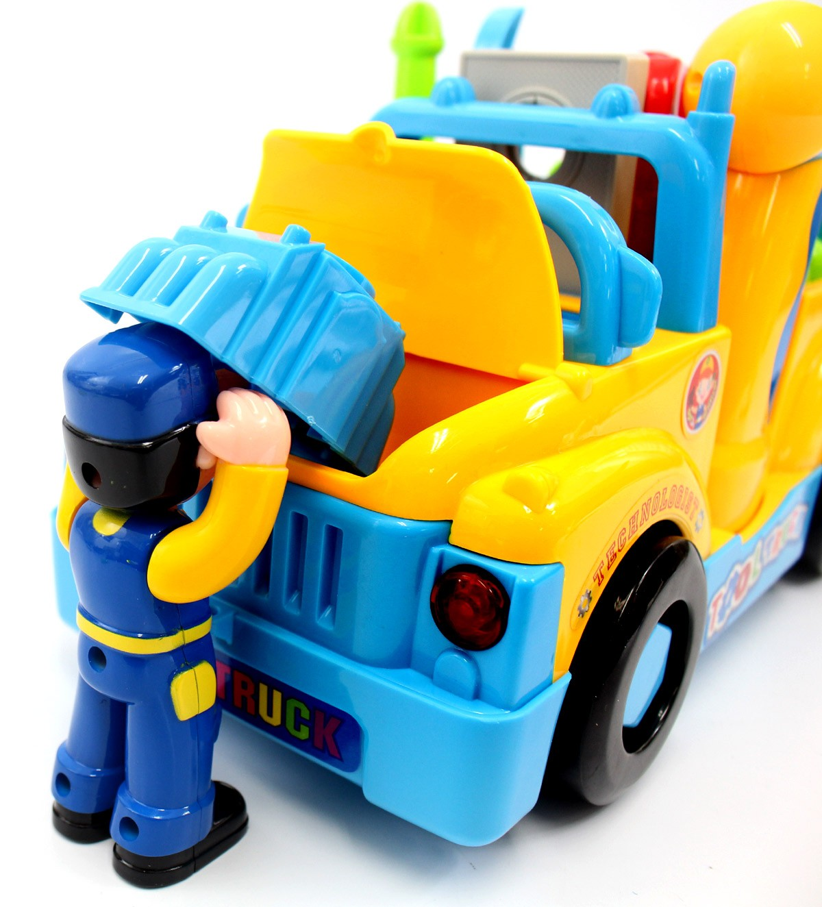 Multifunctional Take Apart Toy Tool Truck With Electric Drill And Tools For Kids