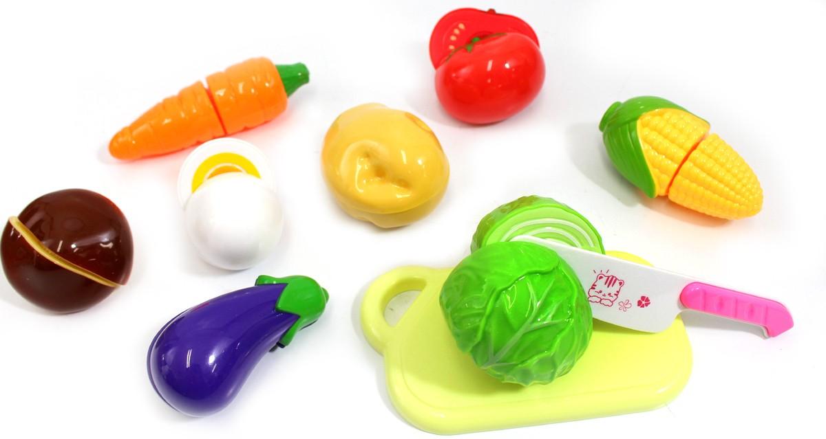 Kitchen Fun Cutting Vegetables Food Playset