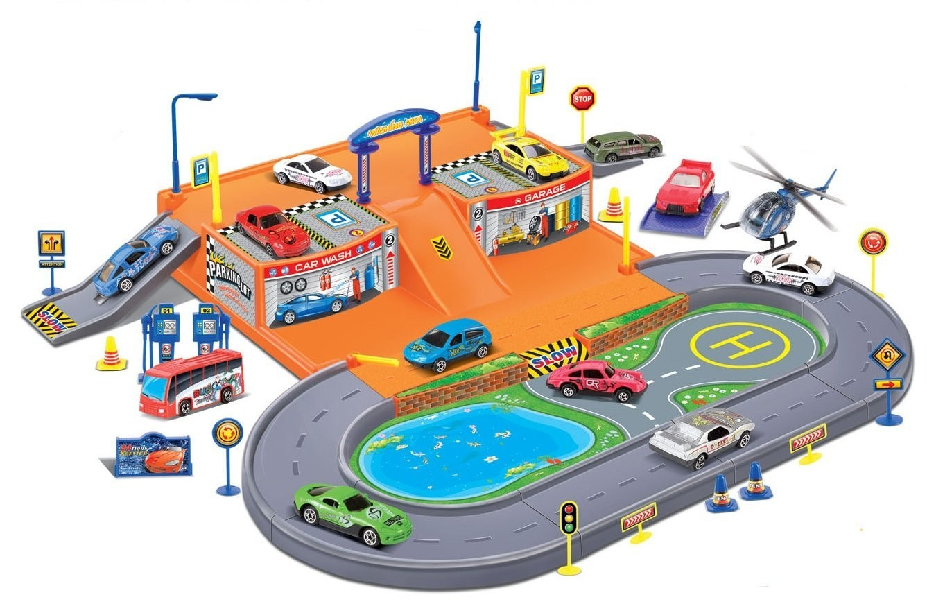 Parking Garage Diecast Racing Playset