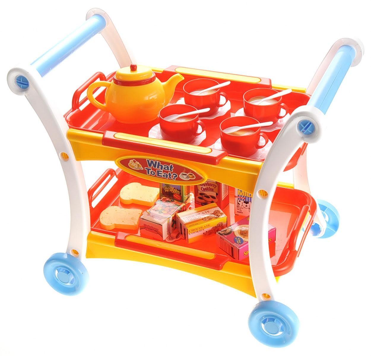 Tea Time Trolley Cart Pretend Play Set
