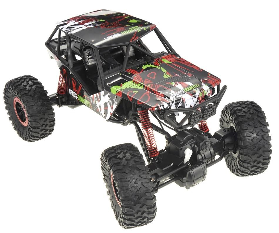 1:10 RC 2.4G 4WD Rally Rock Crawler Car (Red)