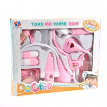 Doctor Nurse Medical Kit Playset for Kids (Pink)