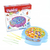 Deluxe Rotating Fishing Game With 2 Fishing Poles