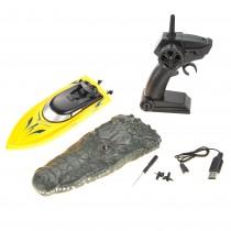 2 in 1 Radio Remote Controlled Crocodile Speedboat