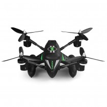 Aeroamphibious 3-in-1 RC Drone, Land Air And Water Quadcopter (Black)