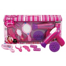 Beauty Salon Fashion Play Set With Hairdryer, Mirror, And Accessories