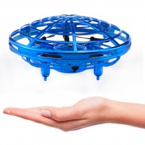 Mini UFO Hand Controlled Quadcopter (Blue)