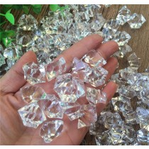 3 Lb Bag Of Acrylic Ice Rock Cubes For Table And Party Decoration
