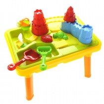 """23""""Sandbox Castle 2-In-1 Sand And Water Table Beach Play Set For Kids"""