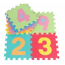 Kids Puzzle Alphabet, Numbers, 36 Tiles and Edges Play Mat, 6x6-Feet