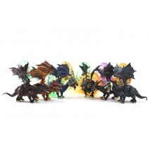 Dragon Figurine Puzzles In Hatching Jurrasic Eggs (12 Eggs Per Pack)
