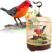 Singing & Chirping Bird in Cage - Realistic Sounds & Movements BC507B
