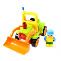 "4"" Cartoon RC Construction Truck Remote Control Toy For Toddlers (Green)"