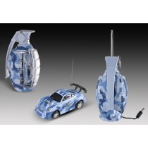 "3"" Mini RC Grenade Camouflage Car (Blue)"