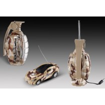 "3"" Mini RC Grenade Camouflage Car (Brown)"