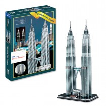 Petronas Twin Towers 3D Puzzle, 88 Pieces