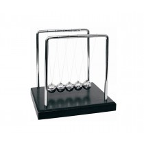 Newtons Cradle Balance Balls 7 1/4 inch - Black Wooden Base