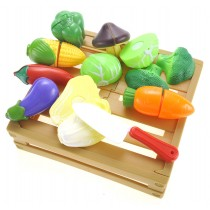 Kitchen Cutting Vegetables Crate Pretend Food Playset