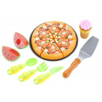 Kitchen Fun Pizza Party for Kids with Watermelon, Ice Cream, and Utensils